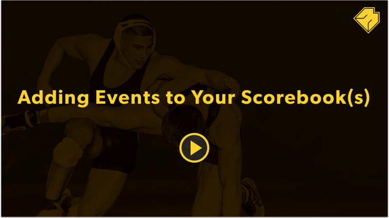 Adding Events to Your Scorebook(s) - MatBoss University