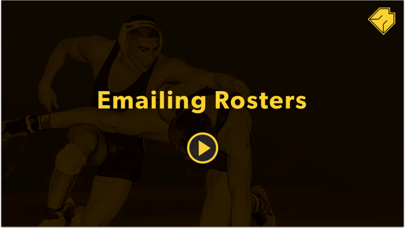 Emailing Rosters - MatBoss University