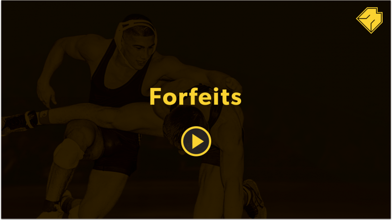 Forfeits - MatBoss University