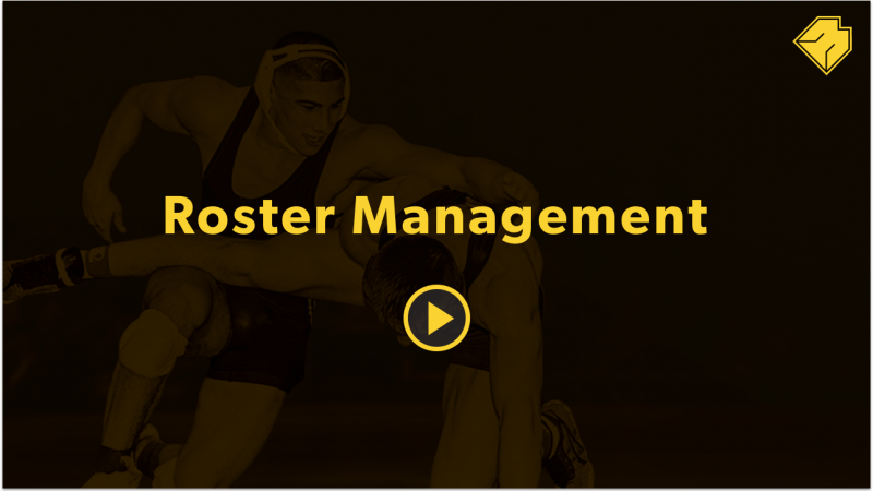 Roster Management - MatBoss University